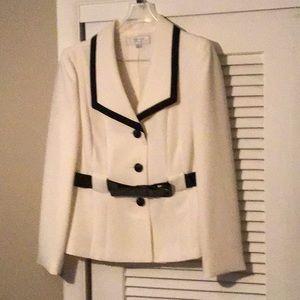 White suit jacket.